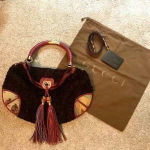 Gucci Indy Tassel Hobo Bag